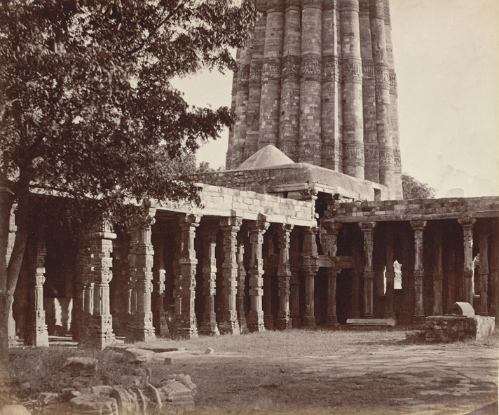The Kootub [Delhi]. South-east corner of the enclosure, with the base of the minaret.